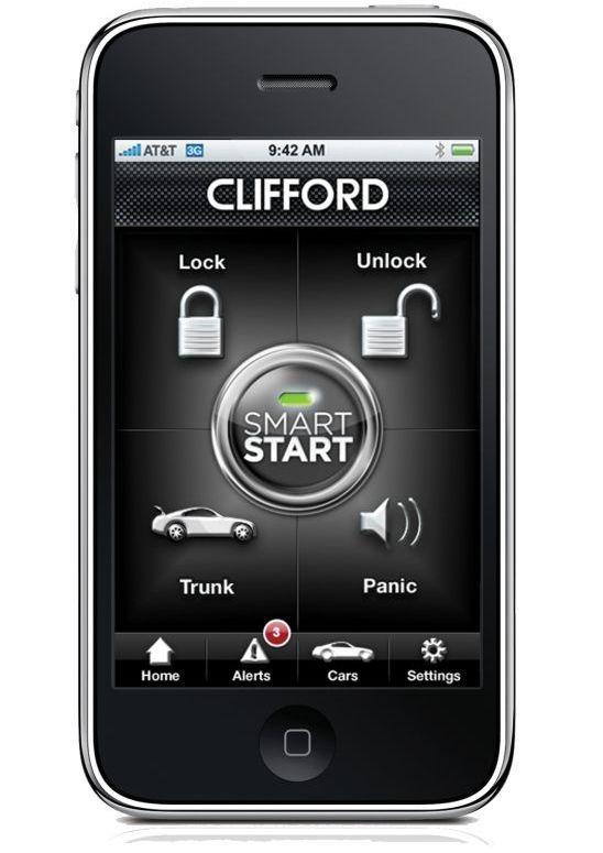 Car Starter App >> Clifford Smartstart App Driven Car Starter For Iphone Android Or