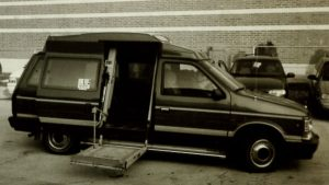 van with wheelchair lift