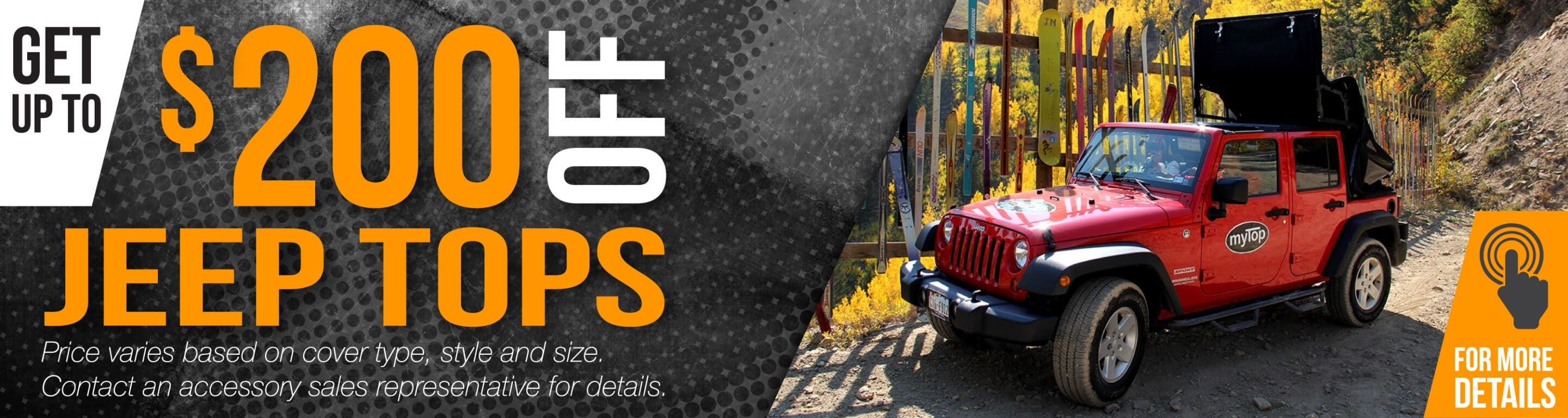 Red Jeep - Get up to $200 off Jeep Tops