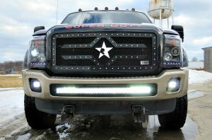 ford truck off road light installation