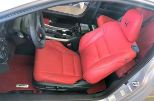 red leather seat installation for car