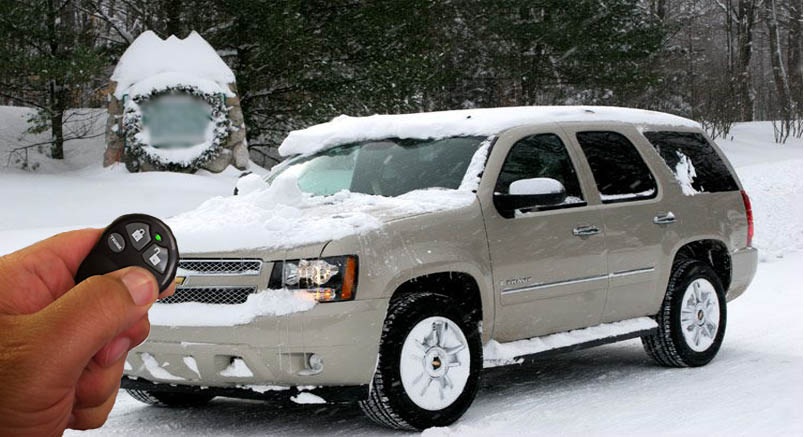 Chevy taho remote start in the snow