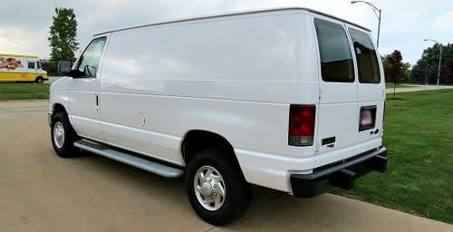 commercial van before accessories