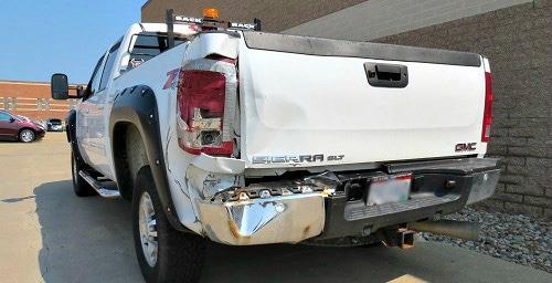 GMC 2500 Truck Wrecked