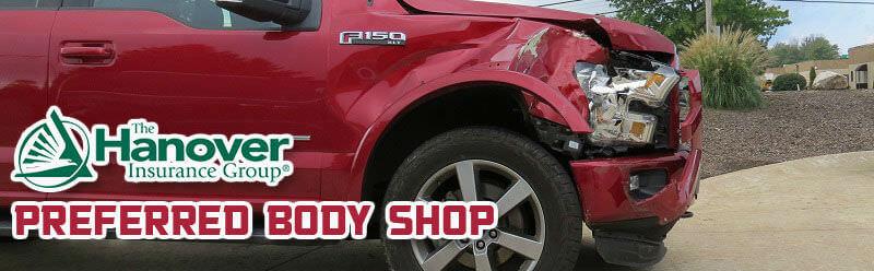 hanover insurance body shop