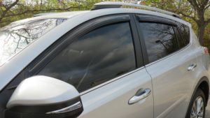 Suburu Hatchback drivers window tinted