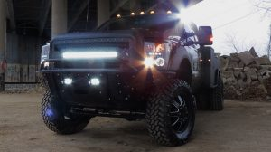 led lights on black truck