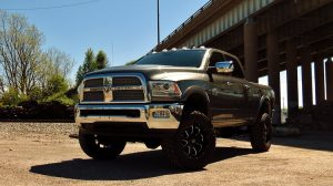 Dodge Ram truck front view